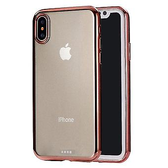For iPhone XS Max Cover,Ultra-thin Electroplated Protective Phone Case,Rose Gold