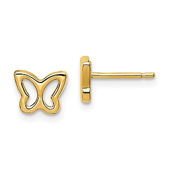 14k Madi K Klippa ut Butterfly Angel Wings Post Örhängen Smycken Gåvor för kvinnor - 0,5 gram