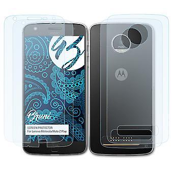 Bruni 2x näytönsuoja yhteensopiva Lenovo Motorola Moto Z Play suojaava kalvo