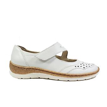 Ara Gil 32636-11 White Leather Womens Rip Tape Shoes
