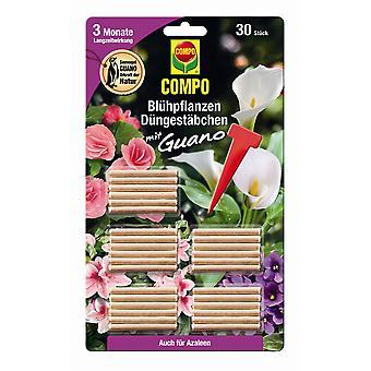 COMPO النباتات المزهرة الأسمدة العصي مع جوانو، 30 قطعة