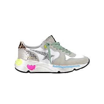 Golden Goose G36ws963l8 Women's White Suede Sneakers