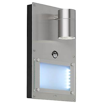 WOFI Marvel Outdoor Pir Wall Light In Stainless Steel Finish Ip44 4046.02.97.7002