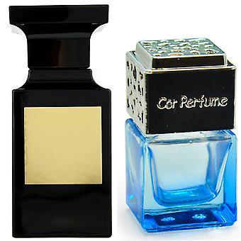 Tom Ford Private Blend Tobacco Vanille For Him Inspired Fragrance 8ml Blue Bottle Chrome Lid Car Air Freshener Vent Clip