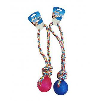 Duvo+ Toy Dog Ball With Tpr Handle Rope (Dogs , Toys & Sport , Balls)