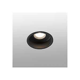Faro Hyde - Black round Recessed Downlight IP44 - FARO40115