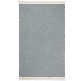 Flatweave rustikale schlichte Teppiche In Himmel grau von Ursprüngen