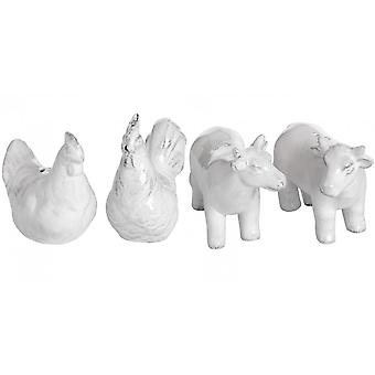 Hill Interiors Salt And Pepper Farm Animals Set