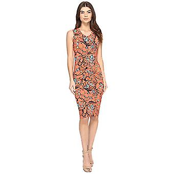 Nicole Miller Women's Floral Swirl B, Hot Coral/Heather Charcoal, Size Small