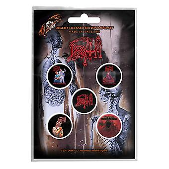 Death badge pack Band logo albums death metal new Official 5 x Pin Button