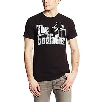 American Classics Men's The Godfather Distress Copy T-Shirt, Negru, Mare