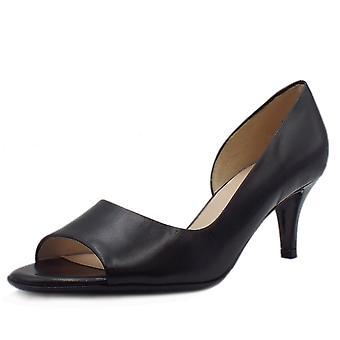 Peter Kaiser Jamala 18 Women's Open Toe Shoes In Black Leather