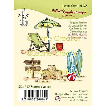 LeCrea - clear stamp combi Summer at sea 55.6647 (04-20)