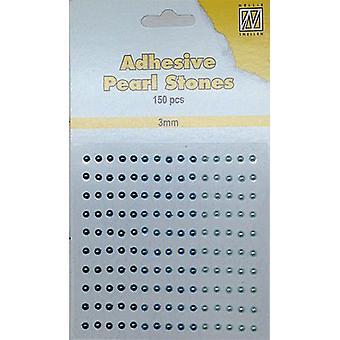 Nellie's Choice Adhesive pearls 3mm Blue - Aqua APS303
