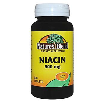 Nature's blend niacin, 500 mg, tablets, 100 ea