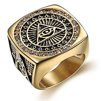 With pyramid crystal masonic ring