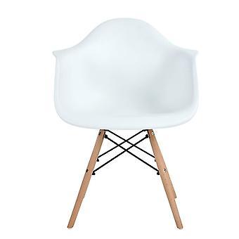 Wood4you - Essstuhl weiß - Pariso - Niedrig - Sitzhöhe: 41 cm - 2 Stück