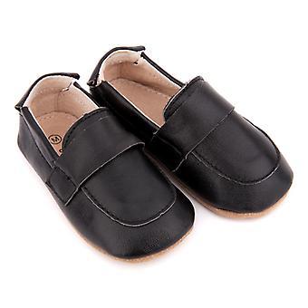 SKEANIE Pelle Pre-Walker Loafers Scarpe in Nero