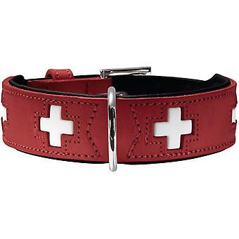 Hunter Collar  Swiss Red and Black (Honden , Halsbanden en Riemen , Halsbanden)