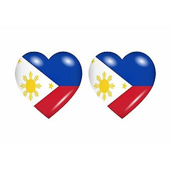 2x Sticker sticker flag heart Filipino RP