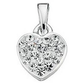 Fantasy Crystal начала набор сердца кулон - серебро/очистить