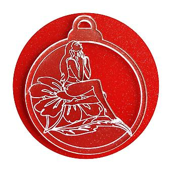 6 Pk 花妖精アクリル クリスマスの装飾
