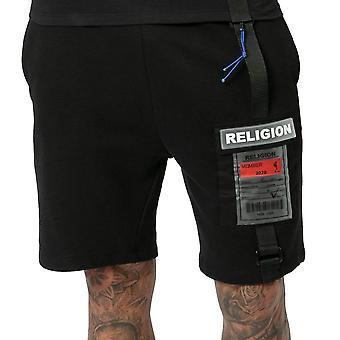Religion 10tofp 77 Official Patch Logo Sweat Short - Black