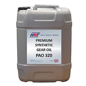 HMT HMTG146 Premium synthétique engrenages industriels huile PAO 320-25 litres en plastique