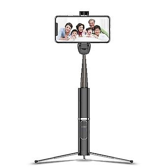Bakeey mini foldable extended bluetooth remote tripod vlog selfie stick monopod for iphone samsung huawei (black)