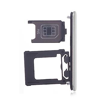 sølv SIM-kort skuff for Sony Xperia XZ1 Kompakt 1310-0293