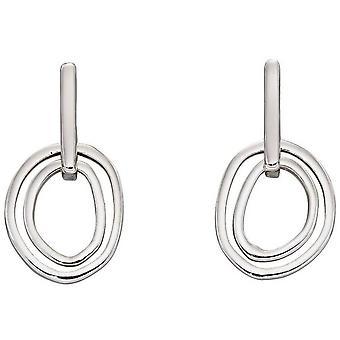 Elementer Sølv Organisk Double Link Øredobber - Sølv