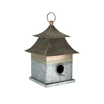 Verzinkt Metall japanische Pagode Stil hängen Vogelhaus
