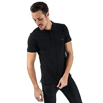 Men's Bench Classic Cotton Polo Shirt in Black