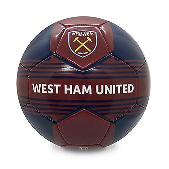 West Ham United FC Official Gift Size 4 Crest Football Claret