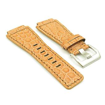 Bell and ross orange watch strap dassari boulder alligator embosed leather stainless steel buckle