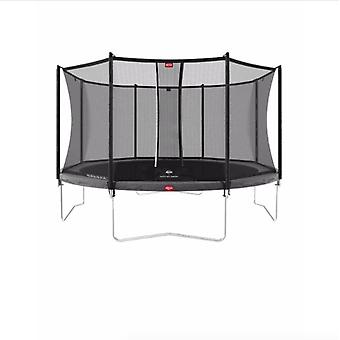 berg Favorit regular 380 12ft trampoline green + safety net comfort
