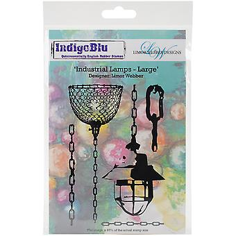 """IndigoBlu Cling Mounted Stamp 5""""X8""""-Industrial Lamps - Large"""