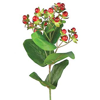 72cm Artificial Red Christmas Hypericum Berries Floristry Stem