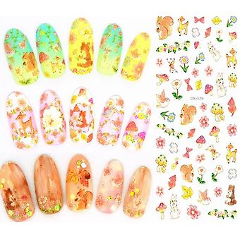 Elegant Florals Nails Art - Manicure Water Decal Decorations Design