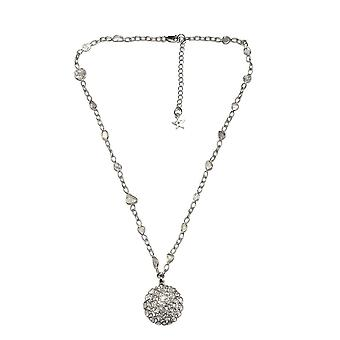 GP White Diamond Kralen Ketting Sterling Silver Platinum Vergulde Blauwe Saffier