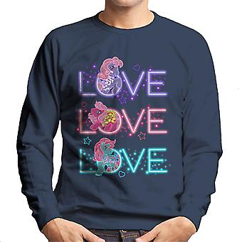 My Little Pony Neon Love Love Love Men's Sweatshirt