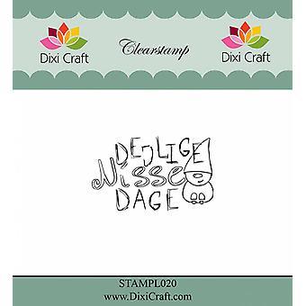 Dixi Craft Texte danois 3 Timbre clair