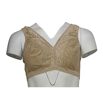 Breezies One Laced Detail Back Closure Back Closure Brown Bra
