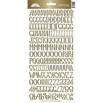 Doodlebug Design Gold Foil Sunshine Naklejki