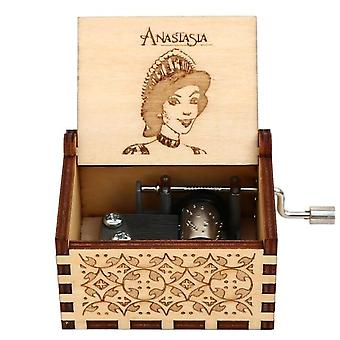 Anastasia Once Upon A December- Wooden, Hand Crank Music Box