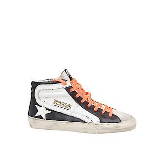 Goldene Gans Gmf0011680501 Männer's weiß/schwarz Leder Hi Top Sneakers