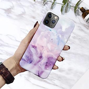 Moskado iPhone 8 Plus Case Marble Texture - Shockproof Glossy Case Granite Cover Cas TPU