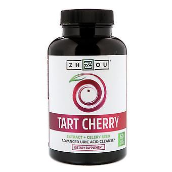 Zhou Nutrition, Tart Cherry Extract + Celery Seed, 60 Veggie Capsules
