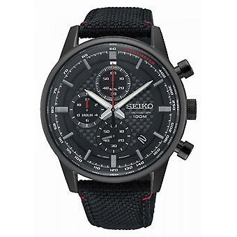 Seiko SSB315P1 watch - Nylon svart man sportklocka