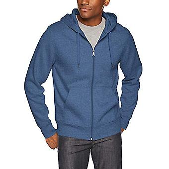 Essentials Men's Full-Zip Hooded Fleece Sweatshirt, Blue Heather, X-Sm ...